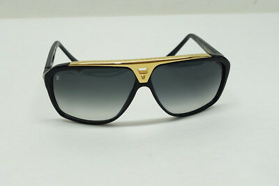 5f40723cb28d7 Louis Vuitton LV Evidence Sunglasses Z0350W Black Gold Sunglasses 66mm  P8 N3067