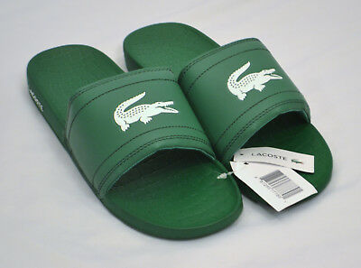 611d596506ae9a LACOSTE Men s Fraisier BRD1 Slip On Sandals SIZE 10 Green BRAND NEW WITH  TAGS