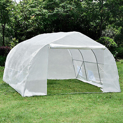 Portable 11'x10'x7' Walk-In Greenhouse Solid Tunnel Green House Plant Gardening