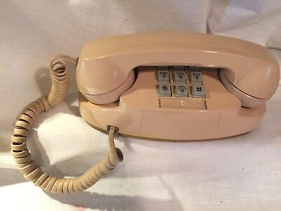 Vintage Western Electric 2702BM BEIGE  Princess Touch Tone Telephone Phone