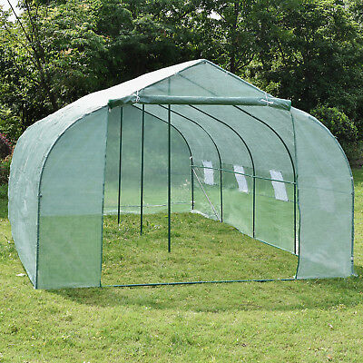 20'x10'x7' Walk-In Green House Plant Gardening Greenhouse Heavy Duty Steel Yard