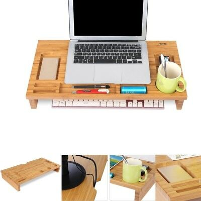 Wooden monitor riser laptop stand  table computer TV screen stand desktop desk