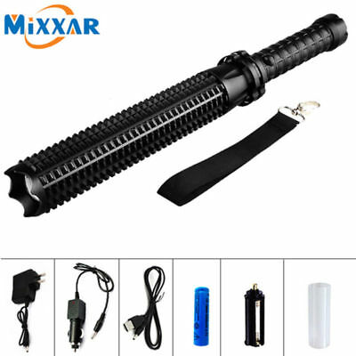 10000Lumens LED Zoomable 18650 Tactical Flashlight Police Lamp Light Torch