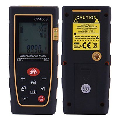 CP-100S Model 328ft Digital Laser Distance Meter Range Finder Measure Tape
