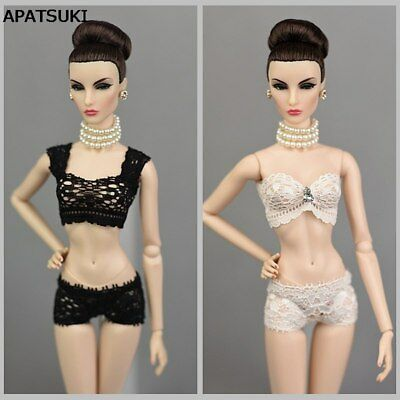 Soft Lace Underwear Bra & Briefs For Barbie Doll Underpants Knickers For Blythe
