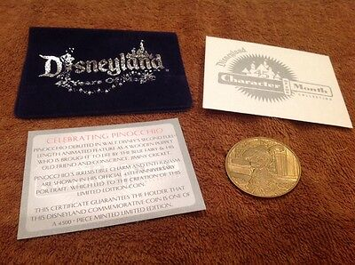 New Disneyland 45 Years of Magic Character of the Month Pinocchio Coin LE 4500
