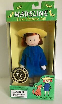 """Eden Madeline 8"""" POSABLE DOLL Brand New in Box Best Toy Award Seal"""
