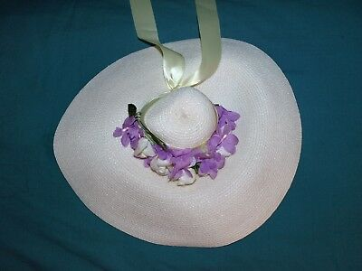Vintage Madame Alexander HAT with flowers for 1950s Cissy
