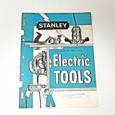 Vintage Stanley Electric Tools Catalog No 400 & Price List - Power Planes & More
