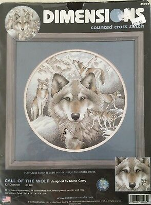 Dimensions counted cross stitch kit - Call of the Wolf
