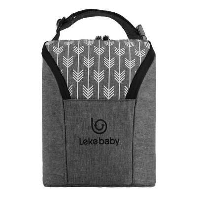 Baby Insulated Bottle Keep Warmer Carrier Bag Travel Handbag Pouch Link on Buggy