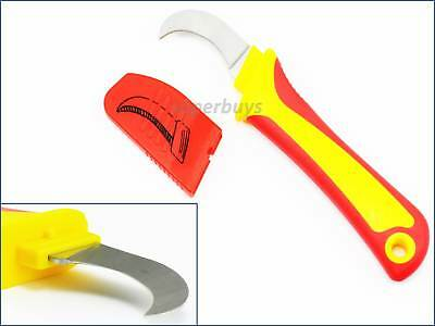 175mm Sickle Shaped Insulated Electricians Knife Wire Remover Cable Cutter Cut
