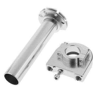 Universal Motorcycle CNC Alloy Accelerator Throttle Handle Grip Twist Silver