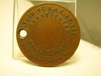 Williamsport Pa Lycoming Masonic Chapter #222 Penny Token Medal