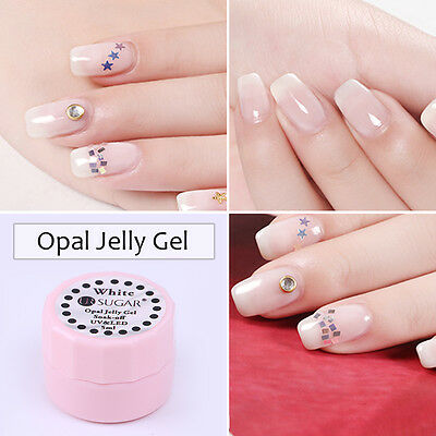 UR SUGAR Opal Jelly Soak Off UV Gel Nail Polish Semi-transparent White Varnish