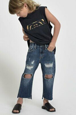 NEW OneTeaspoon ONETEASPOON KIDS HOOLIGANS RELAXED STRAIGHT LEG JEAN