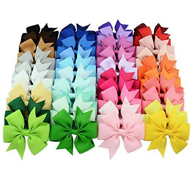 40 Pcs Hair Bows Alligator Clips Ribbon Boutique BIG Baby Girls Kids Grosgrain