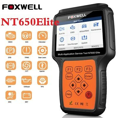 FOXWELL NT650 OBD2 Diagnostic Scanner EPB SAS BMS TPS DPF ABS SRS Oil Reset Tool
