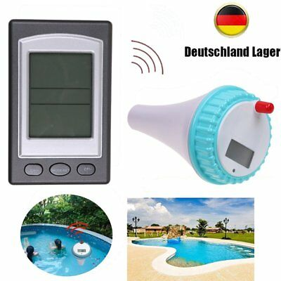 Wireless LCD Display Poolthermometer Funkthermometer Teichthermometer Schwimmbad