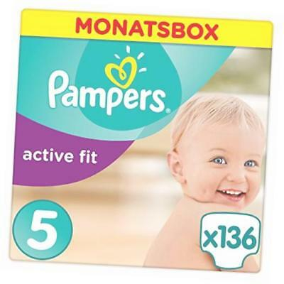 Pampers Premium Protection Active Fit Junior 136 1123kg Gr5 Monatsbo Babywindeln