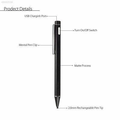 Capacitive Rechargeable Stylus Pen GSP Precision for IPad Touch Screen Active