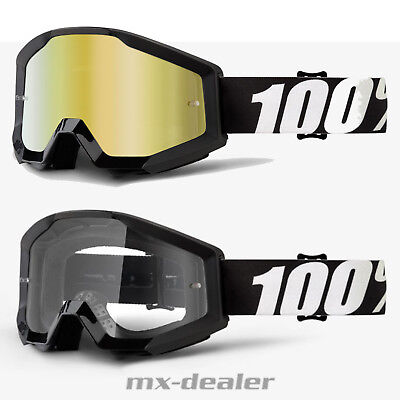 100 % Prozent Brille Strata Outlaw schwarz Motocross Enduro Downhill Cross MX
