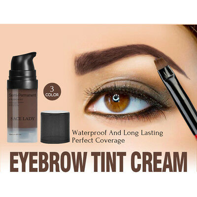 SACE LADY Eyebrow Dye Gel Waterproof Long Lasting Tint Shade Make-up Rapidly Dry