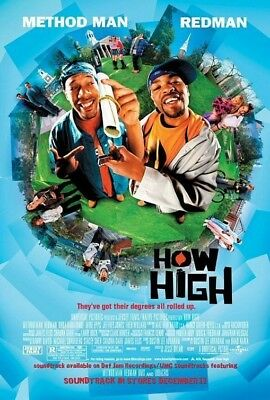 HOW HIGH MOVIE POSTER 2 Sided ORIGINAL 27x40 METHOD MAN REDMAN