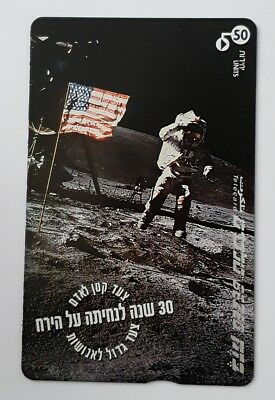 israel bezeq phonecard 1999 30 years for moon landing