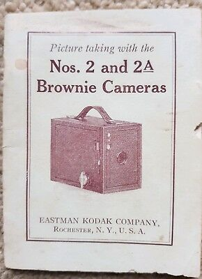 BROWNIE CAMERA INSTRUCTION MANUAL GUIDE 1923 Number 2 2A Kodak Photography USA