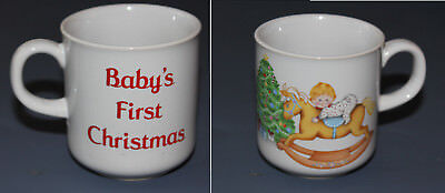Vtg BABY'S FIRST CHRISTMAS Collectible Ceramic Cup/Mug by Russ Berrie #8009