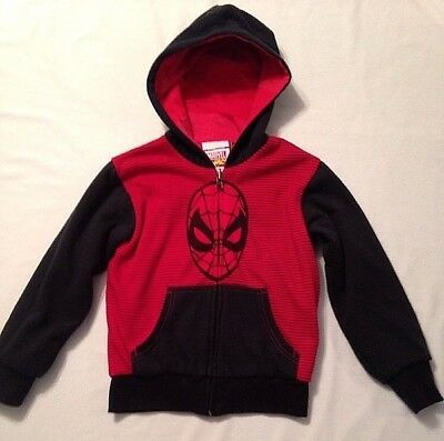 MARVEL Mad Engine Comics Sweatshirt Hoodie Boys size 4 Spider-Man Red/Black EUC