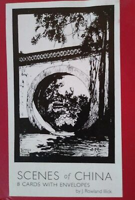 Vintage Cards Scenes of China by J Rowland Illick Temple Wall Peking 1919-1936