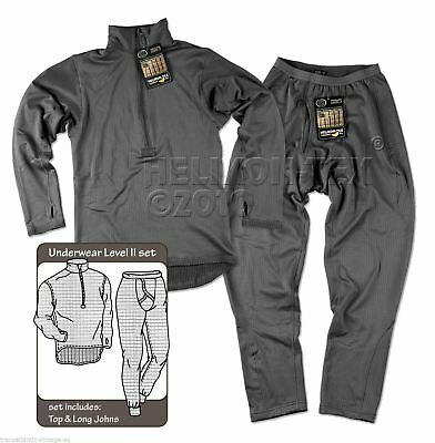 Helikon Level 2 Thermal Underwear Set Army Breathable Top With Long John Bottoms