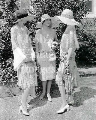 Stylish New York City Ladies at Races Photo 1928 Flappers Jazz Prohibition NYC