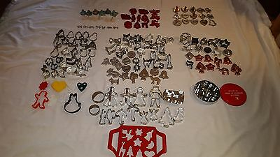 VINTAGE COOKIE CUTTERS  MOLDS  STAMPS Lot of 164