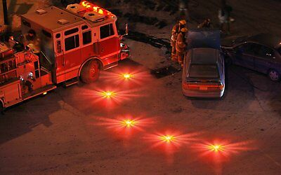 3pcs 15 LED Illuminant Car Light Round Beacon Emergency Strobe Flashing Lamp