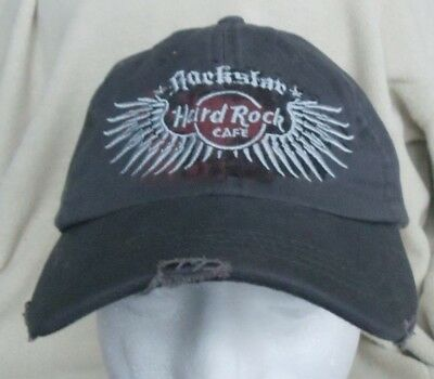 Hard Rock Cafe SINGAPORE Baseball Hat Cap Distressed Look Adjustable Authentic