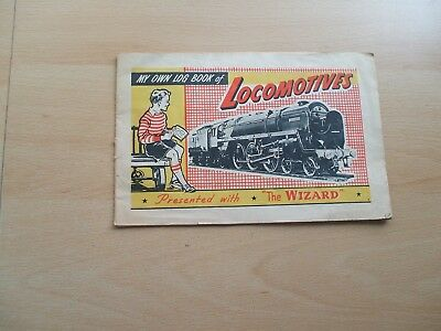 My Own Log Book Of Locomotives Presented With The Wizard Comic 1950's