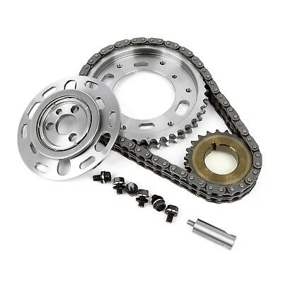 Small Block Chevy Adjustable Double Roller Billet Steel Timing Chain 2 Piece