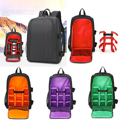 Waterproof DSLR Photo Camera Backpack w/ Rain Cover Laptop Bag Video Padded Case