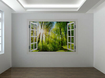 PHOTO WIDE FOREST TREES SUNNY GLADE GIANT POSTER WALL ART PRINT LLF0058