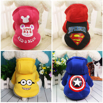 Small Dog Cat Hoodie Sweater Superman Warm Pet Puppy Clothing Coat Chihuahua New