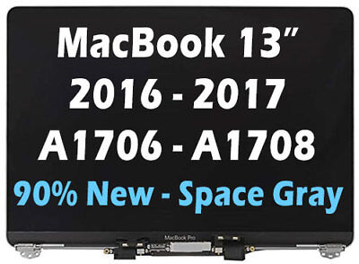"LCD Screen Display Assembly MacBook Pro 13"" A1706 A1708 2016 2017 Space Grey"