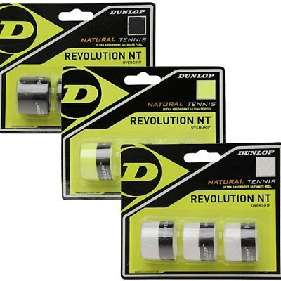 3 Dunlop Revolution NT Grips/Overgrips - Choice Of Colours - Free P&P