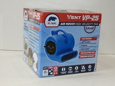 Blower Fan 1/4 HP Vent Air Mover Carpet Dryer Blue Thermoplastic Stackable