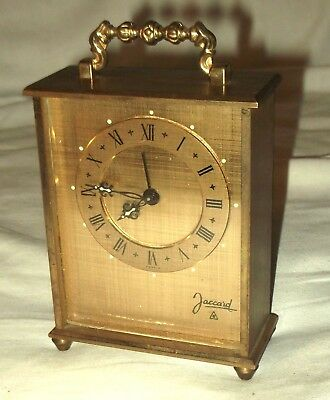 'Jaccard 8', France,  Vintage Brass Carriage Clock.  Mechanical Movement.