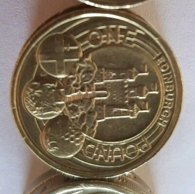 2011 EDINBURGH £1 Capital City cities one pound coin RARE.