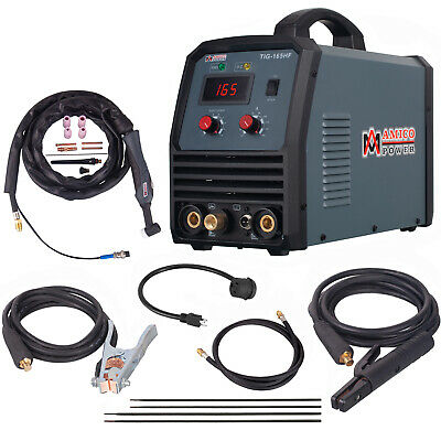 TIG-160DC, 160 Amp TIG Torch Stick Arc MMA DC Welder, 110V & 230V Welding New