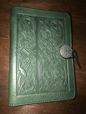 Oberon Celtic Hounds  Vintage Green Leather 100% hand-crafted,5X7 Unused